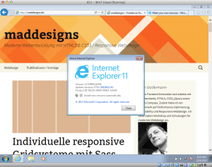maddesigns.de im IE11 auf Windows 7