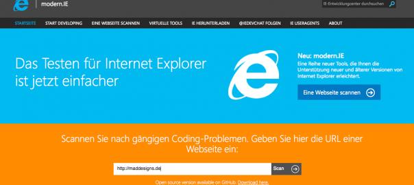 Modern IE website
