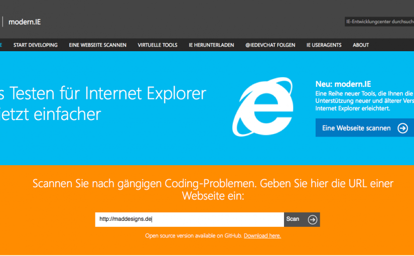 IE-Debugging via VirtualBox mit modern.ie