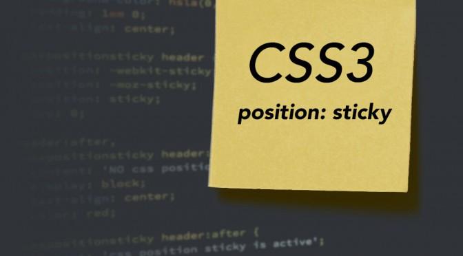 post it – position: sticky