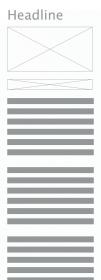 Wireframe Rezept mobile Vorlage