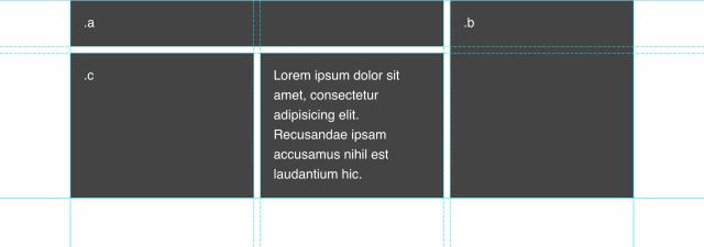 Fertiges Layout, flexible in der Höhe, je nach Inhalt gleich hohe Spalten